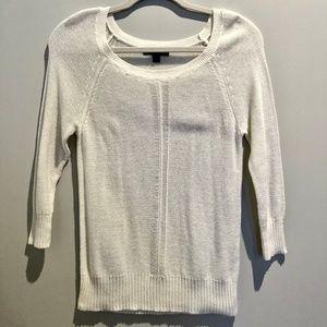 American Eagle Cream Knit Tunic Sweater